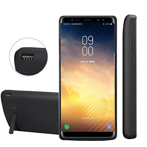 REDGO Galaxy Note 8 Battery Case 6500mAh, Rechargeable External Battery Portable Charger Protective Charging Case Power Battery Pack Bank Cover for Samsung Galaxy Note 8 (Black)