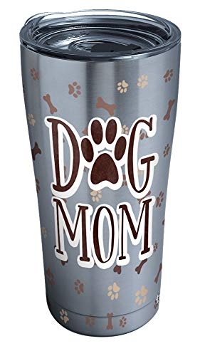 Tervis Dog Mom Insulated Tumbler, 20 oz Stainless Steel, Silver
