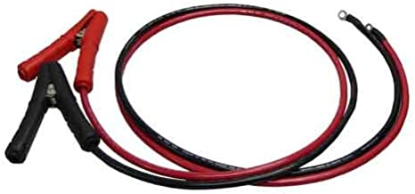 AIMS Power Inverter and Battery Cable 1/0 AWG 3' Set Copper Cable - Extra Flexible - Aligator Clamp to 7/16 Lug End