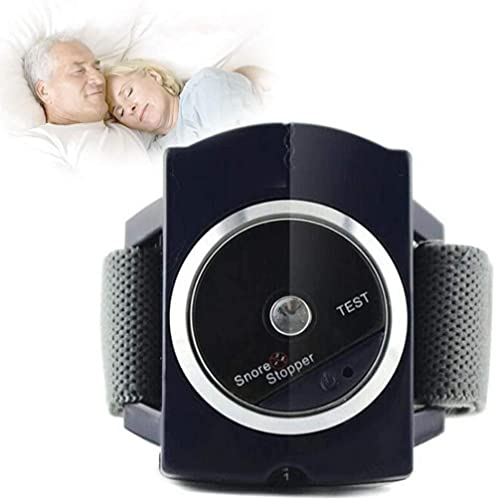 Antironquidos para Dormir Eficaz Reloj de Pulsera Anti Ronquidos Pulsera Inteligente Infrarrojo Antironquidos Tapón Snore Stopper para Hombres Mujeres-2PCS