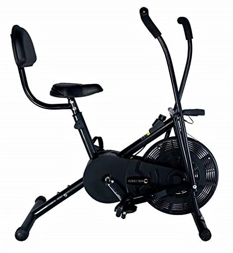 A1 Solution || Air Bike || Dual Moving Handles || Exercise Home Gym Cycle || Workout || Cardio || Made in India || The A1 Solution to Your Health (Moving Handles + Back Support)