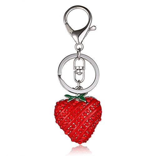GMTEXTILES Erdbeerroter Anhänger Kristallschmuck Geschenk Geld Miete Schlüsselanhänger Frucht Serie