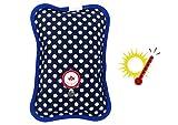 JOVAL - Schnelle elektrische Wärmflasche mit weichem Oberstoff zum Halten von Wärme und zur Linderung von Schmerzen und Gelenkschmerzen. (Blau)