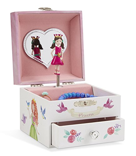 Jewelkeeper - Einhorn Spieluhr Schmuckschatulle, Märchenprinzessin Design mit Ausziehfach - Tanz der Zuckerfee Melodie