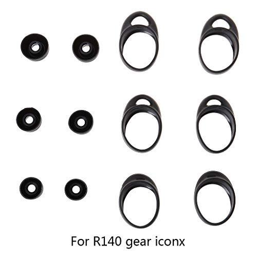 WE-HYTRE 3Pair Funda Protectora de Silicona Kits de Protector de Carcasa para Samsung Gear iConX SM-R140 Bluetooth Auriculares Accesorios