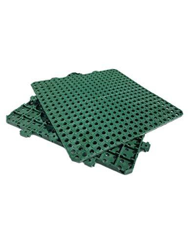 Jardin202 - Suelo | Loseta Encastrable de plástico para Vestuario Verde | 1,08m2 Medida 30x30 Gimnasios Antideslizantes