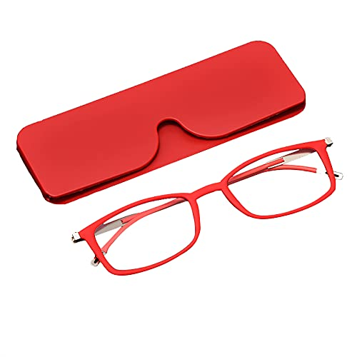JJ Home Gafas de Lectura 1.5/Gafas para Presbicia, Moda Gafas de Lectura con Luz Anti-Azul, Gafas Rectangulares para Hombres y Mujeres con Bisagras
