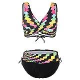 Bikinis de Impresión Colorida de Dos Piezas,Traje de Baño de...