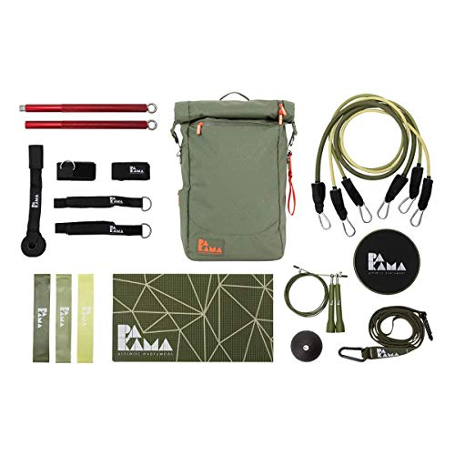 PAKAMA Sports Bag - Fitnessstudio in einem Rucksack (inkl. 10 Gym-Tools & App)
