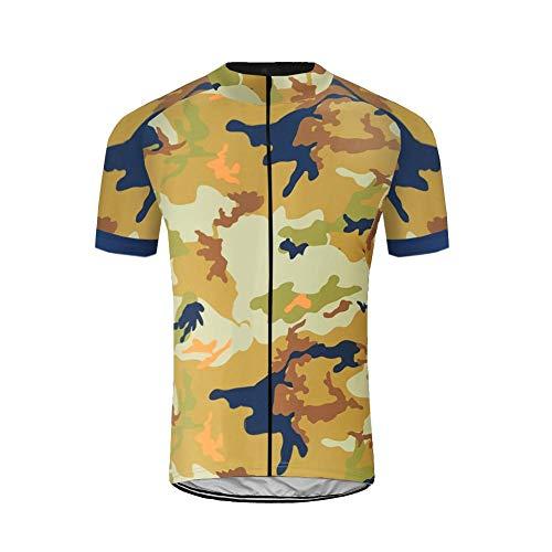Uglyfrog Herren Fahrradbekleidung Kurze Ärmel Radtrikot Set Outdoor Radsport Gemütlich Radkleidung Trikot Jersey im Frühling/Sommer