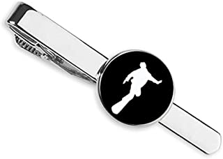 ربطة عنق رياضية سوداء مخططة للتزلج على الجليد ورجال الأعمال