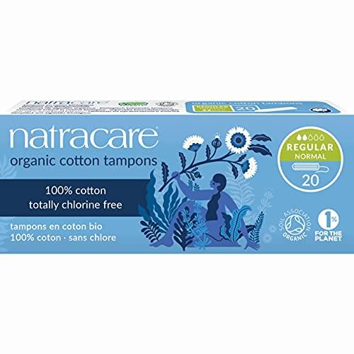 Natracare Organic Non Applicator Tampons Regular 20 Per Pack