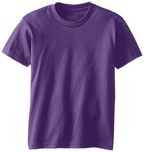 MJ Soffe Big Boys' Youth Pro Weight Short Sleeve Tee, Purple, Large