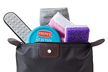Dry Cracked Heel Treatment Repair System O keefe s Healthy Feet Cream Complete Callus Treatment With 2 Pair Silicone Gel Heel Socks Purple Pumice Pad and Foot Rasp