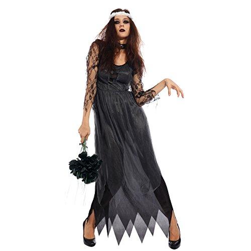maboobie Costume Robe de Deguisement en Pointes Mariee Zombie Thriller pr Halloween
