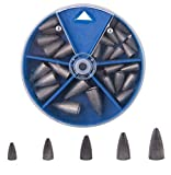 Shaddock Pesas en Forma de lágrima Kit de Pesas de Gusanos de Varios tamaños en una práctica Caja (29pcs)