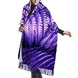 Bufanda de mantón, Bufanda de invierno unisex con sensación de cachemira clásica, hermosas hojas de helecho, follaje verde, bufandas cálidas grandes y largas naturales, estola de mantón