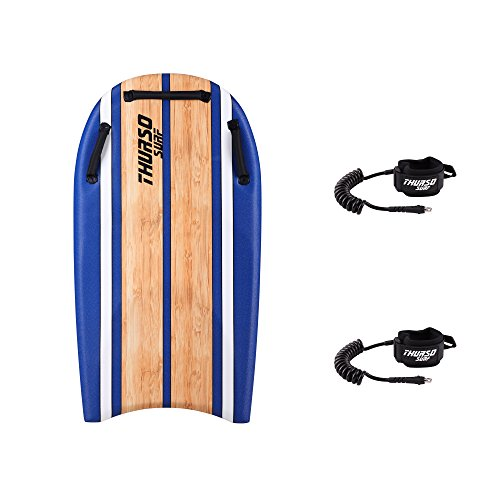 THURSO SURF DuoSlider 45'' Bodyboard with Handles Two Person EPS Core IXPE Deck HDPE Slick Bottom Includes Two PRO Double Swivels Bodyboard Leashes