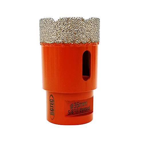 "Dry Diamond Core Drill Bits,BGTEC 1pc 1-3/8"" 35mm Diamond Hole Saw with 5/8-11 Thread for Porcelain Tile,Ceramic Granite Marble Stone Masonry Brick"