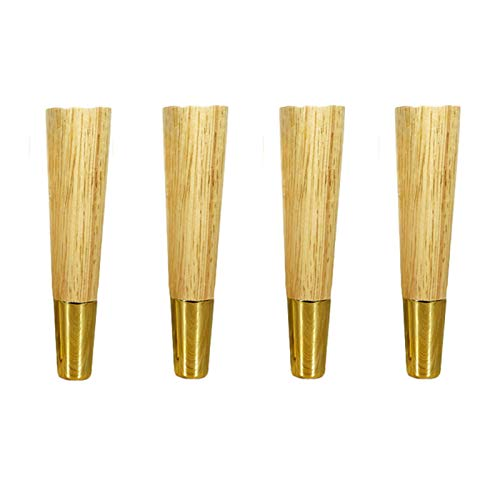 QERNTPEY Couch Cabinet Legs 4pcs Furniture Parts, Sofa Legs Wood Furniture Feet, Wood Sofa Replacement Accessories, Stand Firm and Strong Loading Capacity, Various Sizes (Size : 12.5cm/4.9in)
