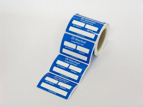 Kundendienst Aufkleber Serviceaufkleber Inspektionsaufkleber (10 Stück, Ölwechsel ausgeführt am)