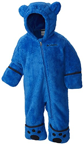 Columbia Sportswear Columbia Fleeceanzug für Kinder, Foxy Baby II Bunting, Polyester, Blau (Super Blue/Collegiate Navy), Gr. 6/12 Monate, WN0016