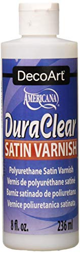 DecoArt DS21-9, American DuraClear Varnishes, 8-Ounce, DuraClear Satin Varnish