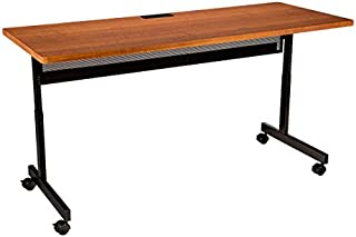 Learniture Adjustable-Height Computer Desk with Electric and USB, 72