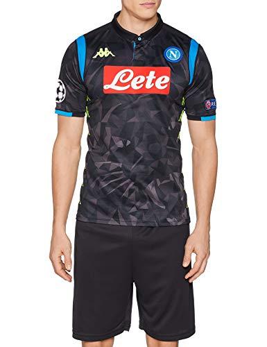SSC Napoli, Europa Away Match, Insigne, Trikot 2018/2019, Herren, Schwarz, XXL