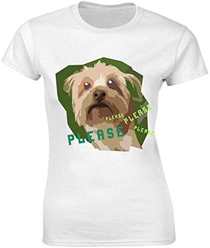 Please Please Please Please Yorkshire Terrier Artwork - Camiseta para mujer
