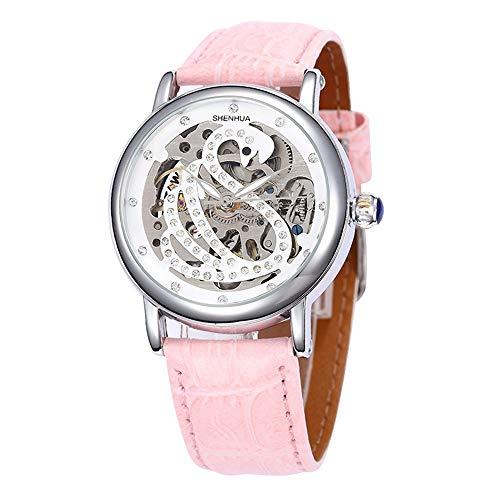 SJXIN Orologio meccanico di alta qualità, Shenhua/ladies orologio meccanico a forma di cigno 9352T (Color : 1)