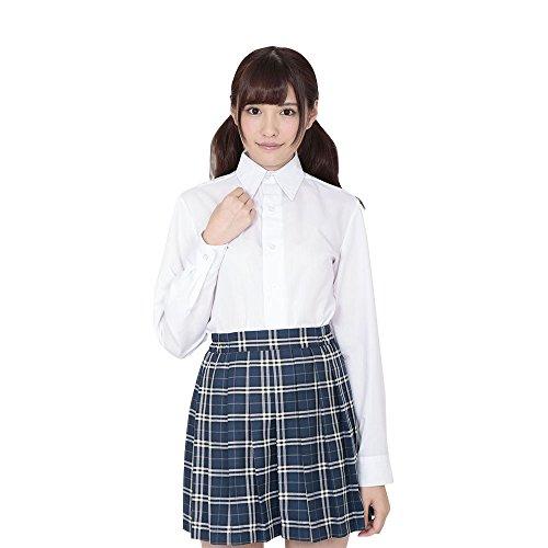 Japanese High School Girl Uniform Kawai Serious Long-sleeved Shirt White