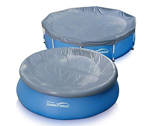 Summer Waves Stay Off Pool Cover (16ft - 17ft, Gray)