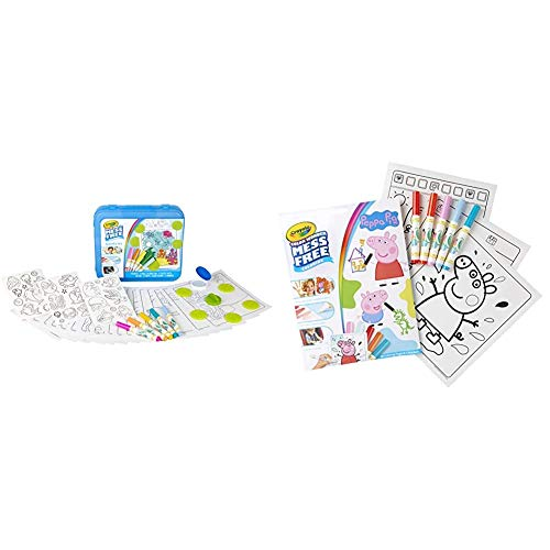 Crayola Color Wonder Mess Free Coloring Activity Set, 30+Piece, Toddler Toys, Gift for Kids 3, 4, 5, 6 & 75-7000 Color Wonder Mess Free Drawing, Peppa Pig