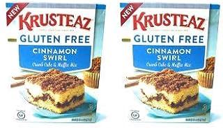 Krusteaz Gluten Free Cinnamon Swirl Crumb Cake & Muffin Mix 20oz (Pack of 2)
