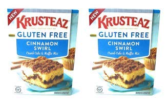 Krusteaz Gluten Free Cinnamon Swirl Crumb Cake & Muffin Mix 20oz (Pack of 2)