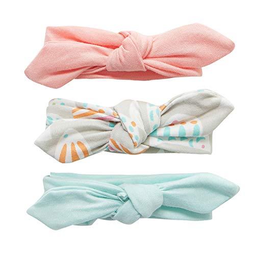 Adorel Baby Mädchen Haarband Schleife Elastisch 3er-Pack Mintgrün 3-24 Monate
