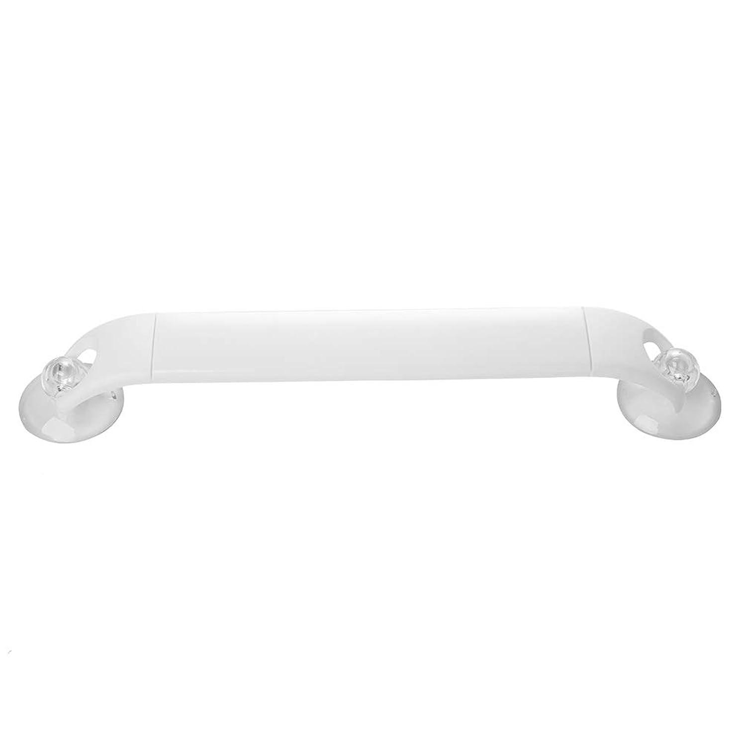 フルーツ装置上げるYGC24 タオルホルダーウォールタオルバータオルラックタオル棚タオルスタンドタオルレールタオルスタッカーストレージホルダープラスチック強力な吸盤伸縮コーナーをマウント (Color : White, Size : 32cm)