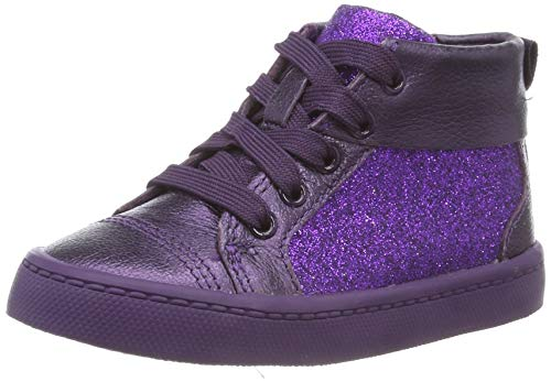 Clarks City Oasis HT, Zapatillas Altas para Niñas, Marrón (Purple Purple), 27 EU