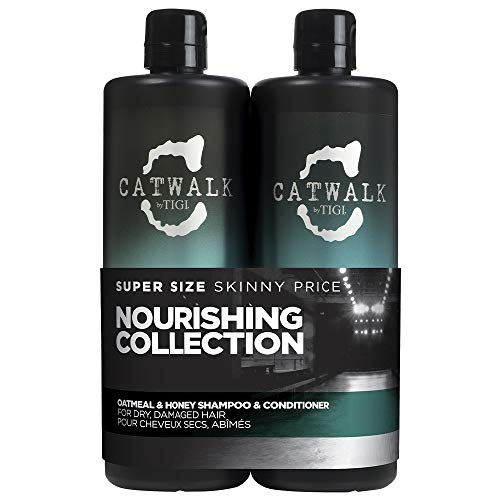 TIGI Catwalk Oatmeal & Honey Shampoo und Conditioner, 750 ml, 2 Stück