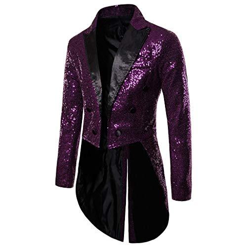 YBWZH Tunika Oberteil Anzugjacke Herren Frackjacke Gothic Steampunk Uniform Fit Anzug Party Wear Mantel Strickjacke Faschingskostüme Smoking Mantel