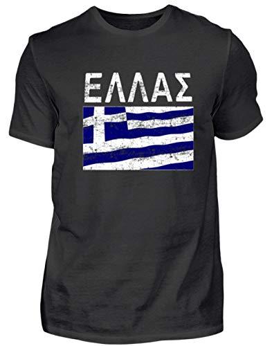 Griechenland - Fahne, Flagge, Griechisch, Grieche, Griechin, Hellas, Hellenen, Athen - Herren Shirt