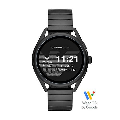 Emporio Armani Smartwatch Pantalla táctil para Hombre de Connected con Correa en Acero Inoxidable ART5020