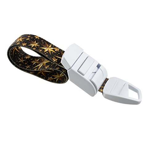 ROLSELEY Medical Tourniquet with Gold Stars Pattern with ABS Plastic Buckle Latex Free Elastic Band Perfect for Doctors, Nurses, Students and Paramedics