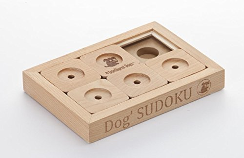 My Intelligent Dogs Interaktives Hundespielzeug aus Holz Dog' Sudoku Advanced, S