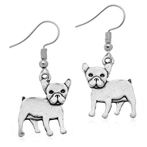 PammyJ French Bulldog Dog Drop Earrings