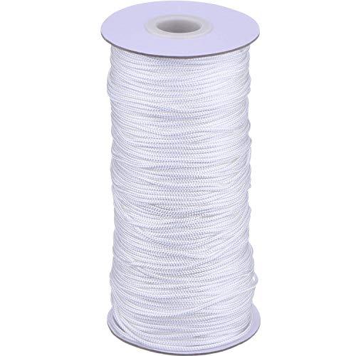 DEZHI 109 Yardas/Rollo Cordón Blanco Trenzado de Cortina de Elevación para Persiana de Aluminio, Planta de Jardinería y Manualidades, (1.8 mm)