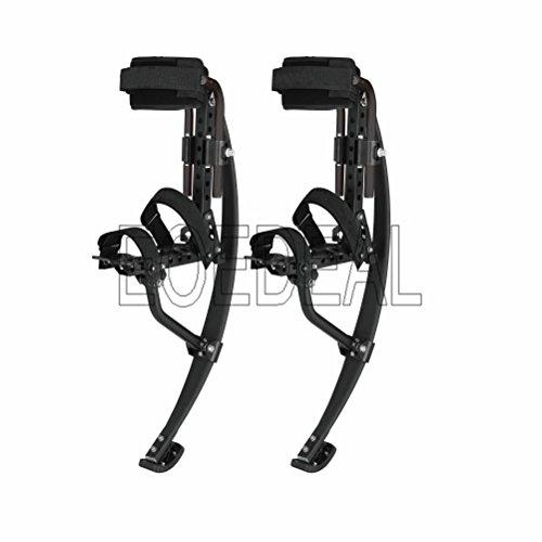 Skyrunner Spring-Stelzen von Pogo Stilts, Känguru-Schuhe, Hüpffeder-Stelzen, für Männer und Frauen, Schwarz (Traglast: 80–90 kg)