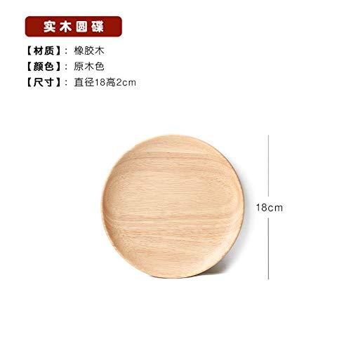 CZDXM HolzpaletteHolzgeschirr Massivholz Teller Set Japanischer Stil Teller Hotel Abendessen Teller Holzschale Holzteller Holztablett