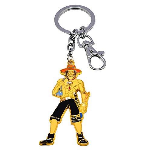 One Piece Personalizar Populares Llavero Creatividad Metal clásico Ornamento Colgante Llavero de (Color : A01, Size : 7.5cm)